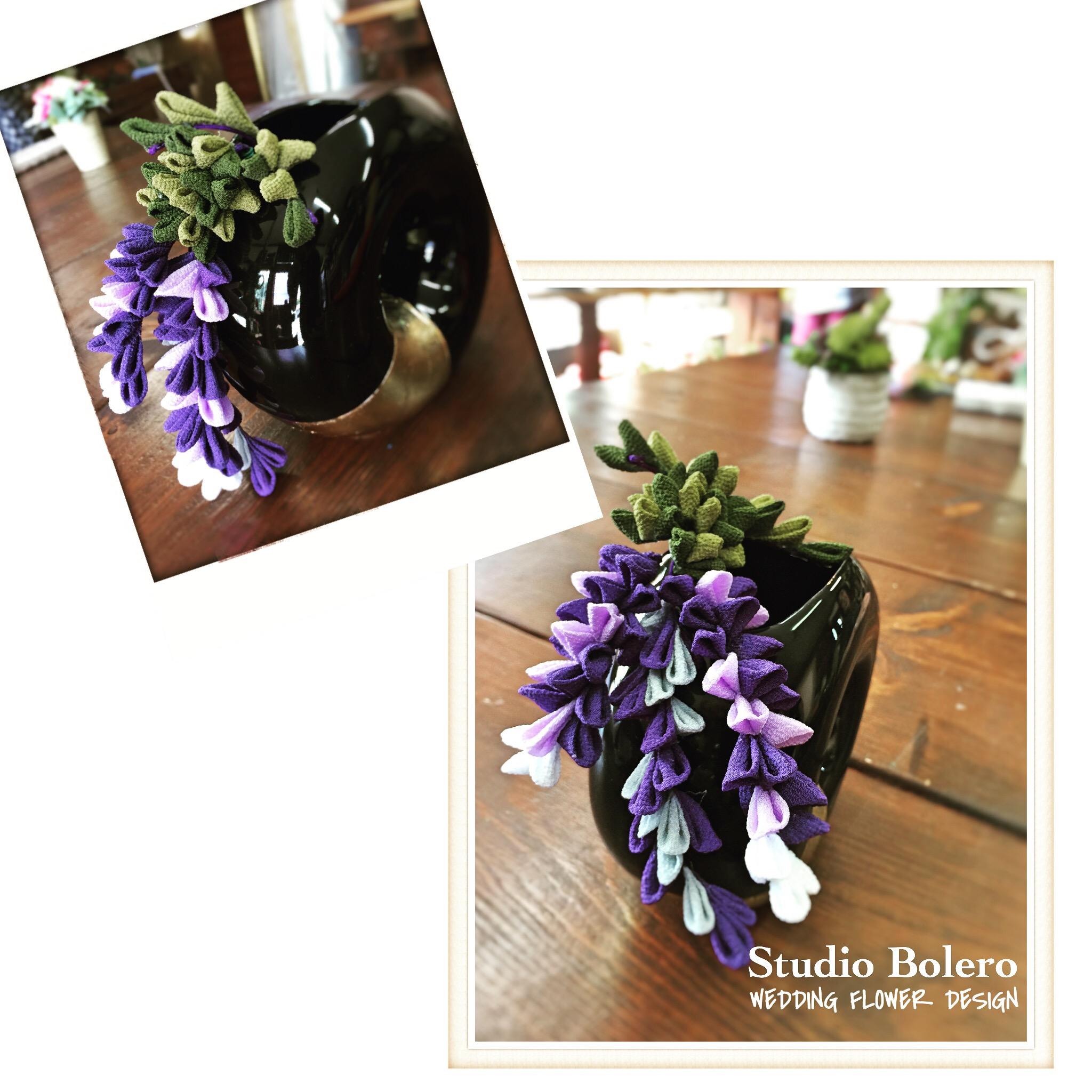つまみ細工  藤の花