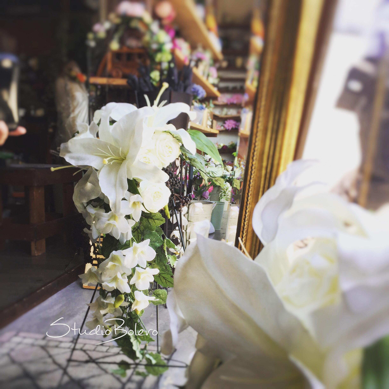 アーティフィシャルフラワー、造花の手作りブーケレッスン、神奈川県綾瀬市、湘南